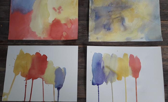 Pflanzenfarbenmalerei